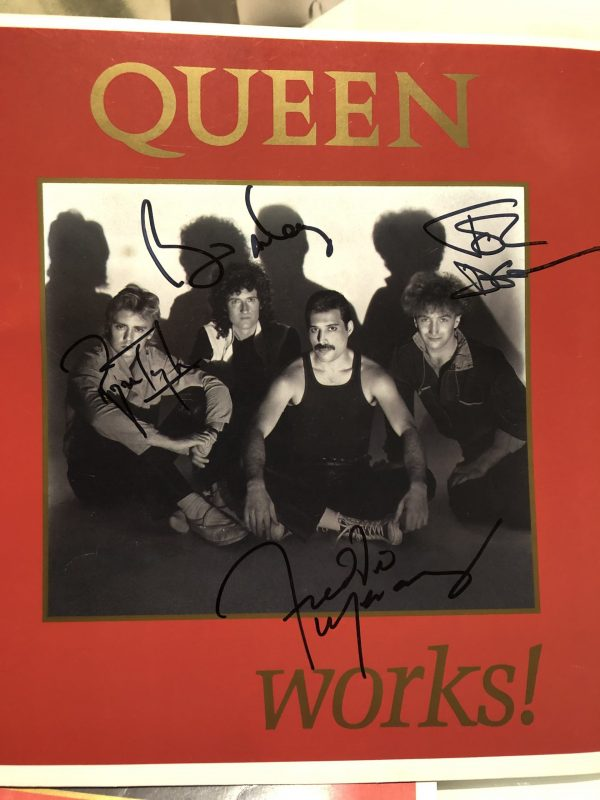Queen The Works autographed 1984 tour programme Freddie Mercury