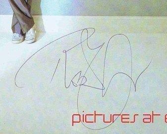 Robert Plant autographs Led Zeppelin 1982