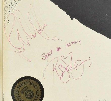 robert plant and john paul jones autographs led zeppelin vinyl