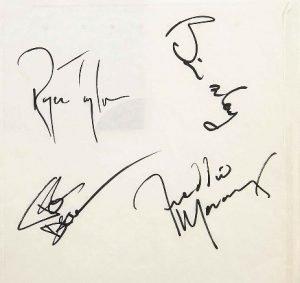 queen autograph examples