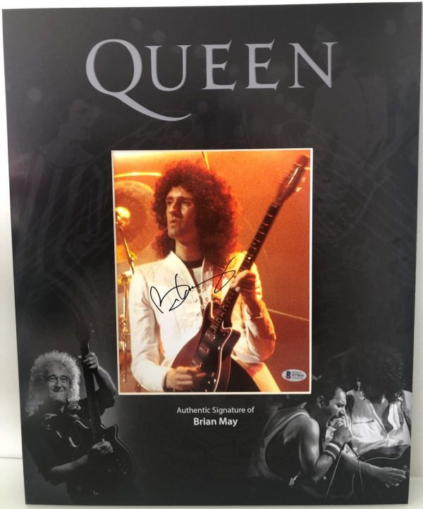 Brian May Autograph photo Display QUEEN Autographs