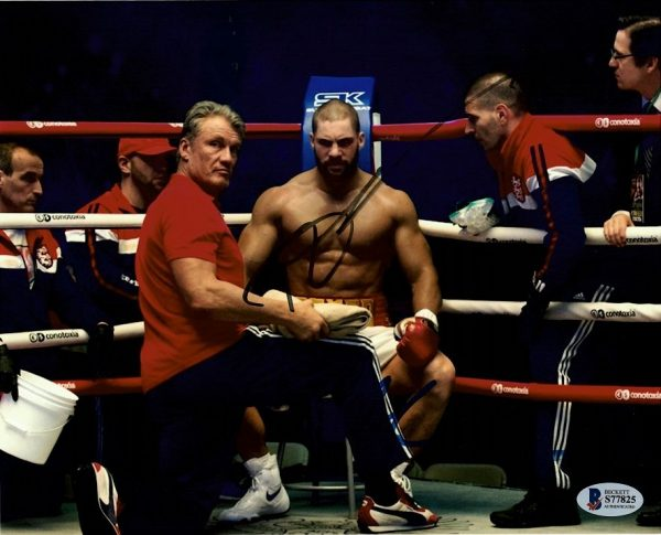 Creed Autographed photo Dolph Lundgren and Florian Munteanu ROCKY