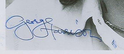 George Harrison autograph 1976