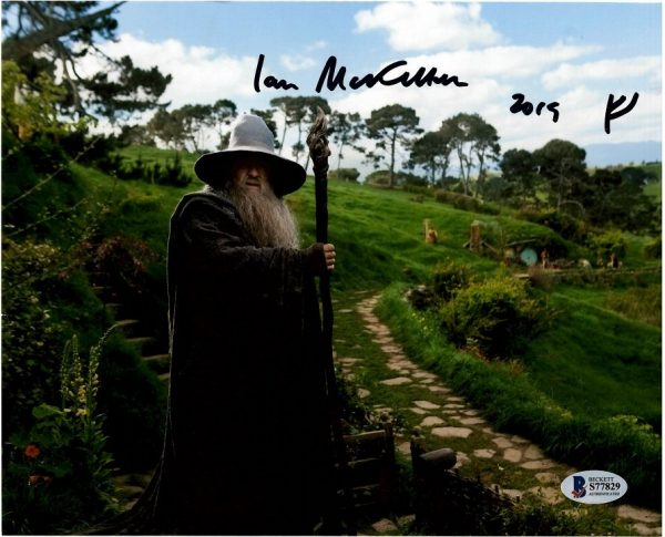 Sir Ian McKellen Autograph Lord of the Rings Gandalf Photo