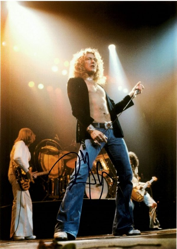 Robert Plant signed Led Zeppelin photo Authentic Autograph