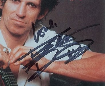 keith richards authentic autograph