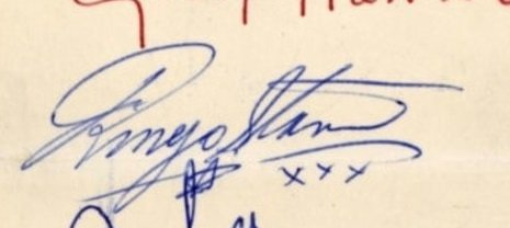 Ringo Starr autograph early 1963