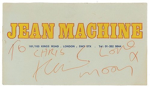 SIGNATURE of keith moon the who