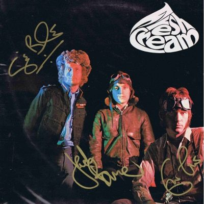 Fresh Cream autographed Lp Eric Clapton, Jack Bruce and Ginger Baker