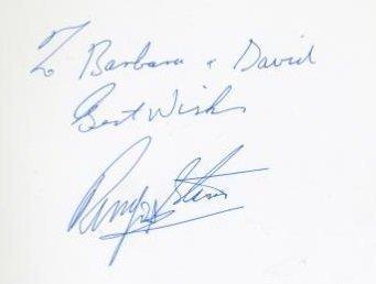ringo starr autograph 80s ba menu