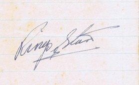 ringo starr autographs the beatles late 60s