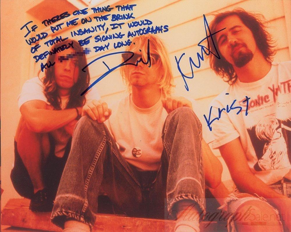 nirvana autographs 1