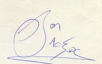 ACDC Autographs with Bon Scott 1976