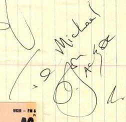Bon Scott autographs 1979 acdc 1