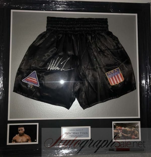 Mike Tyson Autograph Trunks | Black Boxing shorts
