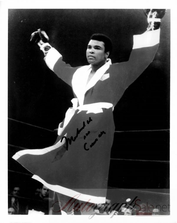Muhammad Ali autograph for sale aka Cassius Clay signed photo