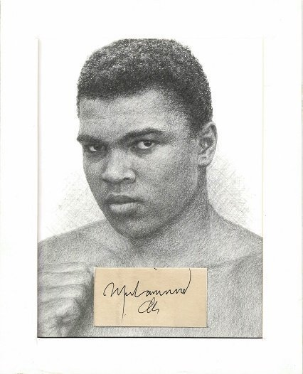 Muhammad Ali signed autograph aka Cassius Clay
