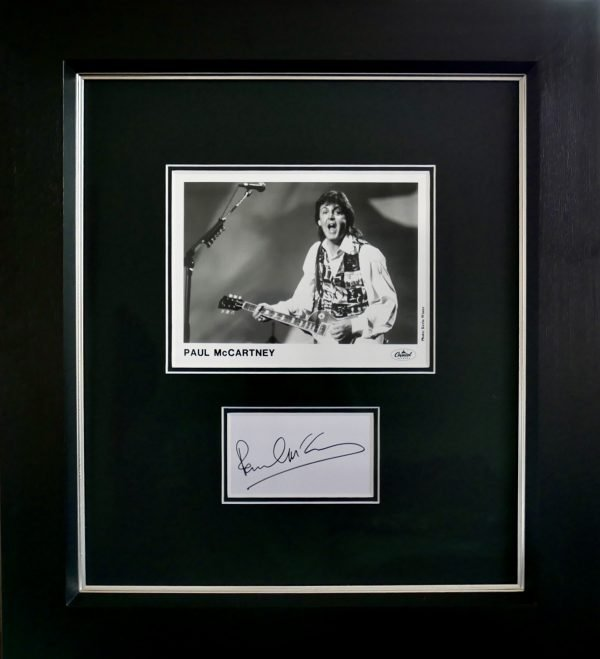 Paul McCartney autograph Beatles framed and mounted signature