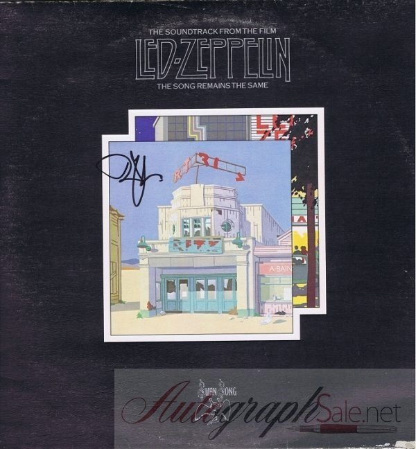Robert Plant Autograph Led Zeppelin The Song Remains the Same Album