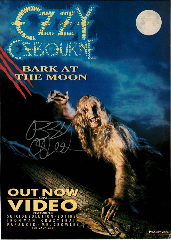 Ozzy Osbourne autograph Magazine advert Bark at the Moon
