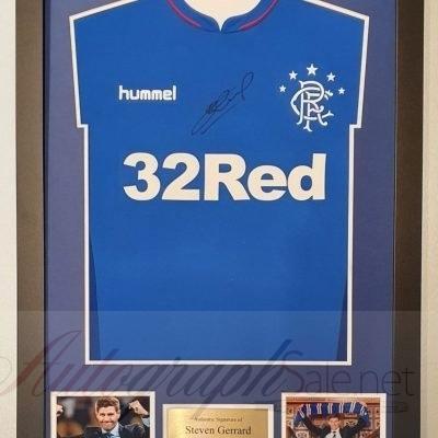 Steven Gerrard Autograph Rangers FC Football Shirt signed