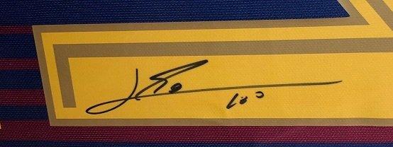 Lionel Messi autograph Barcelona 1