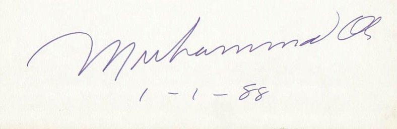 muhammad ali autograph 1988