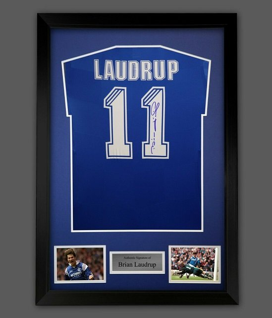 Brian Laudrup Autograph signed Rangers FC Strip