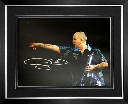 Phil Taylor autograph darts photo 2