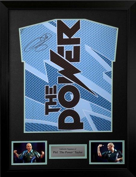 Phil Taylor autograph darts shirt sports autographs and memorabilia
