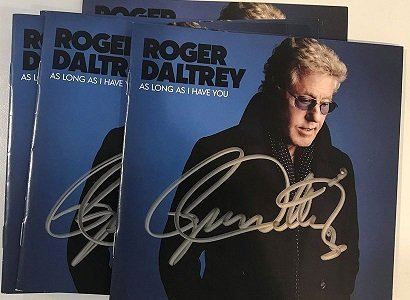 roger daltrey autographs the who