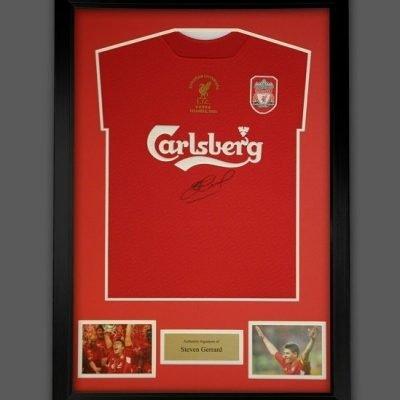 Steven Gerrard Signed Liverpool 2005 Champions League Istanbul autograph