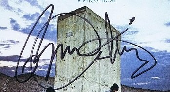 The Who Next signed