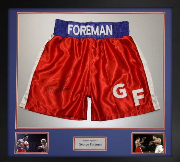 George Foreman Autograph Boxing Trunks Big George