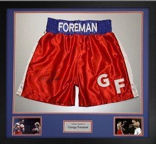 george foreman autographed trunks sports autographs