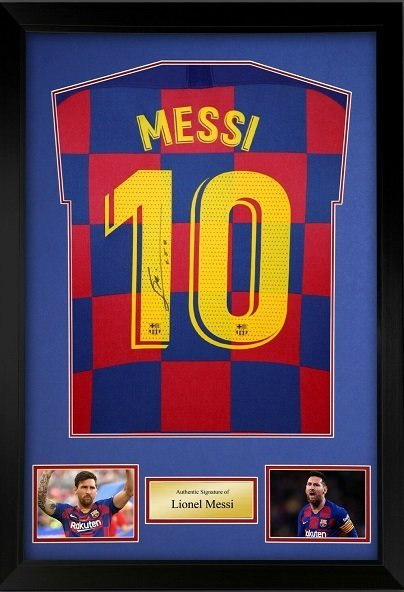 messi autograph charity auction