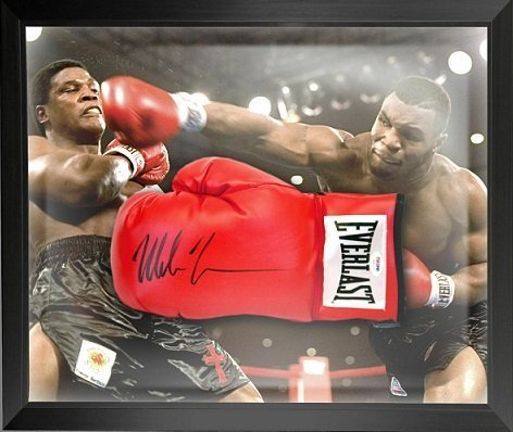 mike tyson autographs boxing gloves