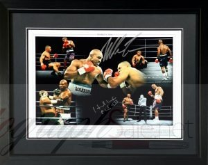 mike tyson evander holyfield autograph charity auction