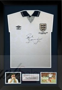 paul gascoigne autograph charity auction