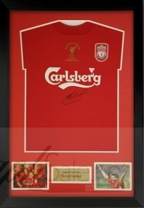 steven gerrard autograph charity auction