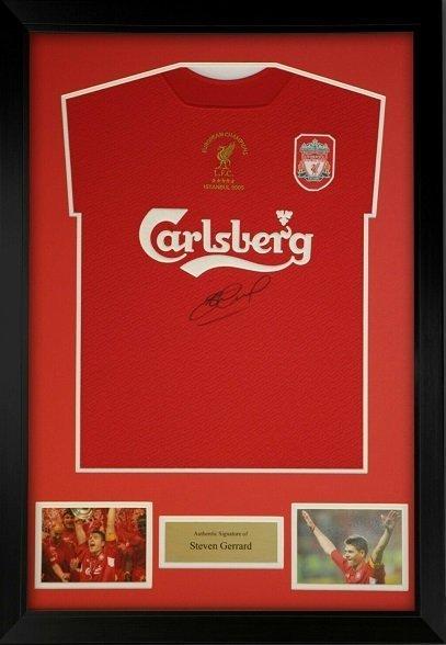 steven gerrard autograph charity auction