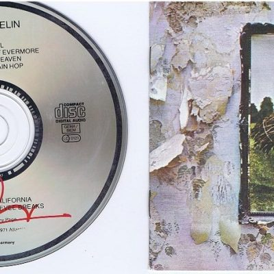 Jimmy Page Robert Plant signed Led Zeppelin IV CD