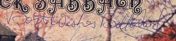 Bill Ward autographs 1969 2