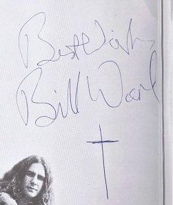 Bill Ward autographs 1970 black sabbath 2