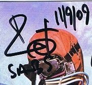 Bill Ward autographs 2009 black sabbath