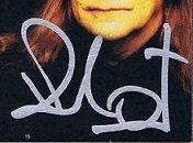 Black Sabbath cd bill ward signed 1998