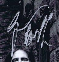 Geezer Butler autographs 2007 2