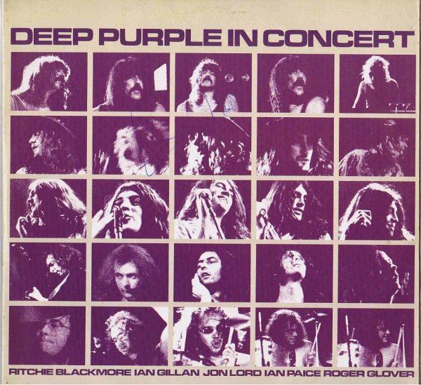 Ian Gillan signed Deep Purple In Concert Lp Autograph