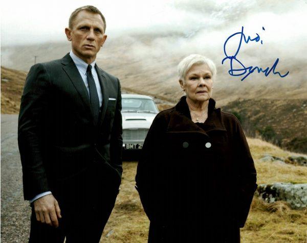 Judi Dench Autograph for Sale | James Bond 007 8×10 photo