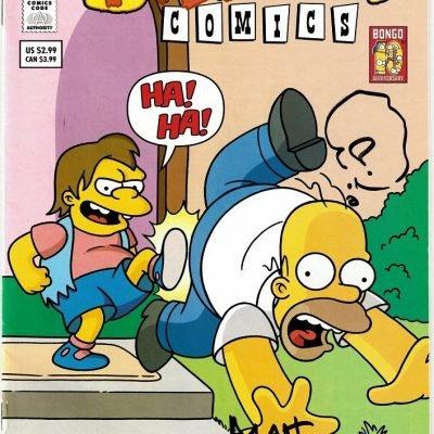 Matt Groening Autograph The Simpsons comic book 6.5 x 10